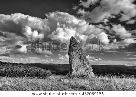 Tepe hdr görüntü gün batımı manzara gökyüzü Stok fotoğraf © CaptureLight
