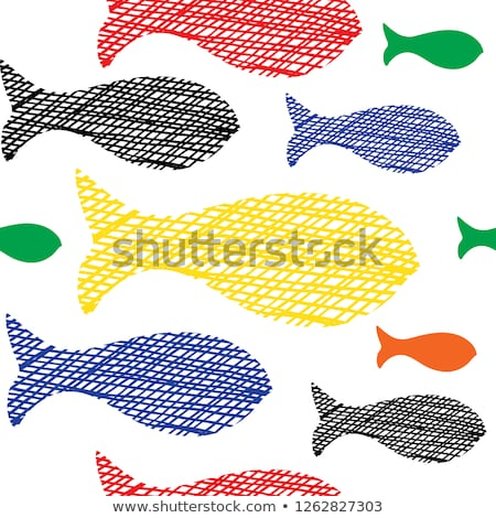 fish under water sketch icon stock photo © rastudio