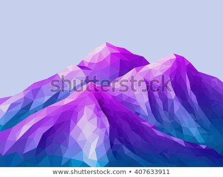 Gökyüzü mavi soyut düşük çokgen stil Stok fotoğraf © patrimonio