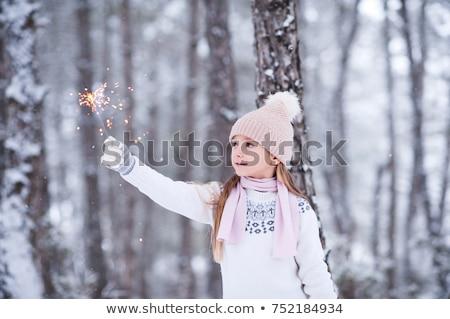 красивой прелестный девушки бенгальский огонь Сток-фото © dash