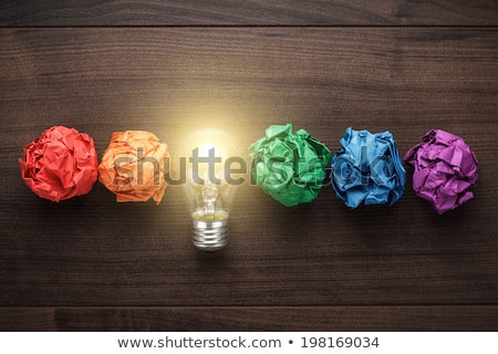 Trovare ispirazione braccio lampadina Foto d'archivio © Lightsource