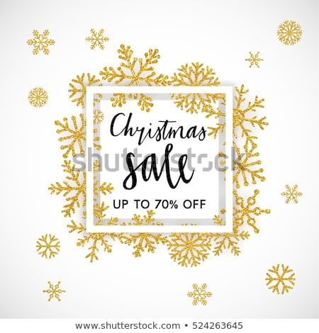 Christmas sale on gold background. EPS 10 stock photo © beholdereye