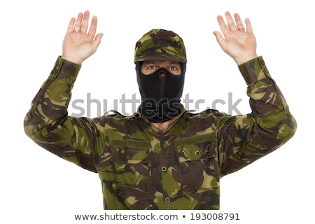 letartóztatva · férfi · megbilincselve · kezek · afrikai · izolált - stock fotó © stevanovicigor