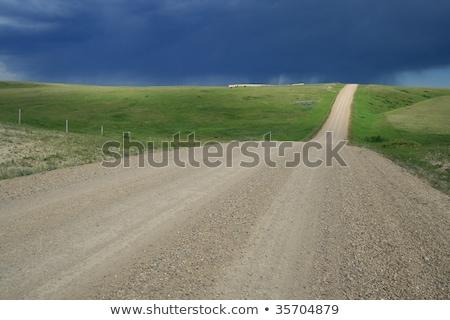 Stock fotó: Festői · Saskatchewan · fű · digitális · kék · ég · kilátás