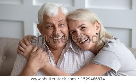 retrato · feliz · casado · homem · luz · relaxar - foto stock © konradbak