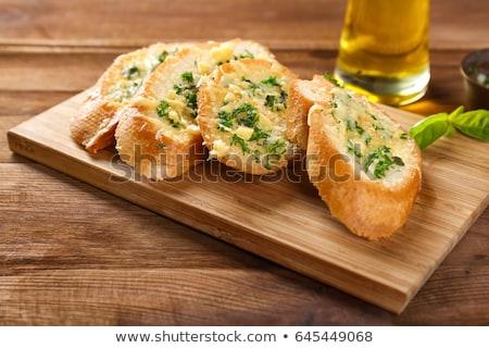 pan · ajo · frescos · tostado · hierbas · almuerzo - foto stock © vertmedia