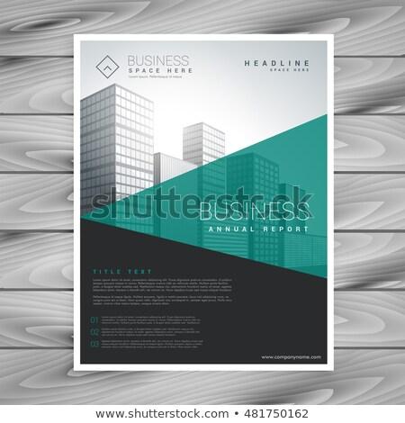 moderna · folleto · volante · geométrico · formas · negocios - foto stock © SArts