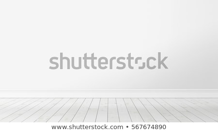 Empty room with white wall and floor Stock photo © cherezoff
