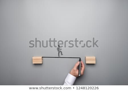 Drawing A Bridge Together Stock photo © Lightsource