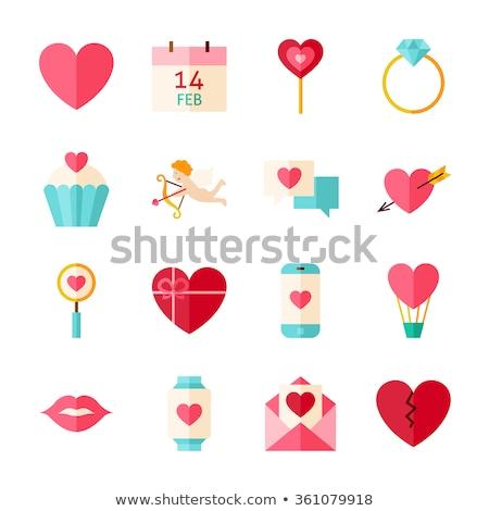 valentine · gün · satış · afiş · ayarlamak · vektör - stok fotoğraf © fresh_5265954