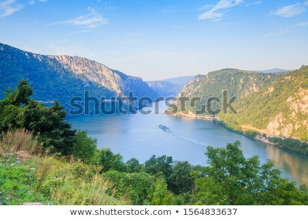 Danube canyon between Serbia and Romania Stock photo © simply