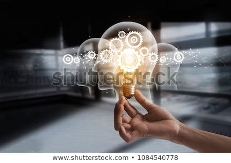 Hersenen lamp idee digitale composiet web Stockfoto © wavebreak_media