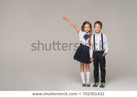 Japanisch Junge Mädchen Schuluniform Illustration Kind Stock foto © bluering