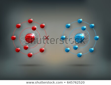 Stock fotó: Human Cell And Free Radical Andtioxidant And Normal Molecules