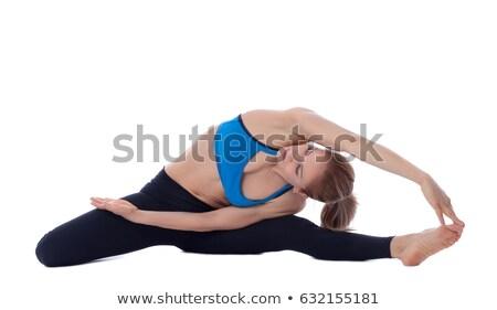 stretching of adductors ischio and quadriceps stock photo © blanaru