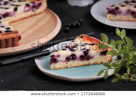Arándano tarta blanco crema dulce panadería Foto stock © M-studio