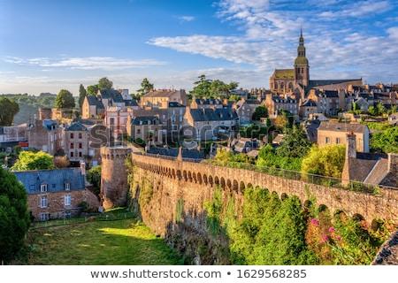 igreja · francês · relógio · natureza · torre - foto stock © smartin69