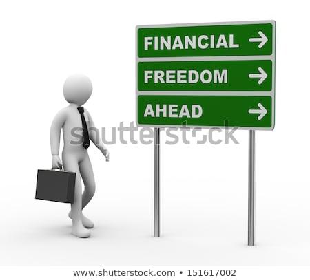 Money Traffic - Cartoon Green Word. Business Concept. Stock photo © tashatuvango