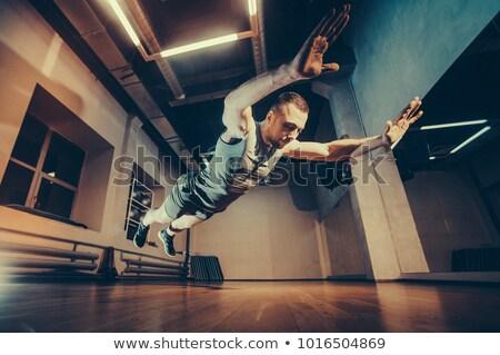 側面図 ボクサー 訓練 ジム 深刻 ストックフォト © deandrobot