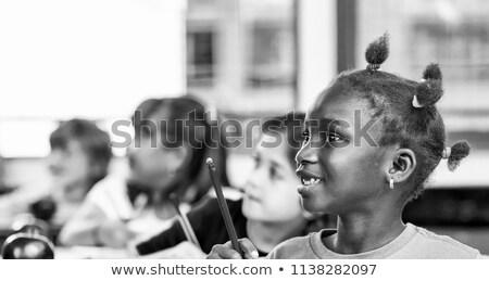 Follow the smile Black white Stock photo © Olena