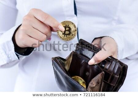 Bitcoin sikke yalıtılmış para simge sanal Stok fotoğraf © MaryValery