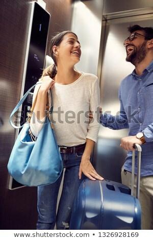 счастливым пару целоваться лифта люди человека Сток-фото © jossdiim