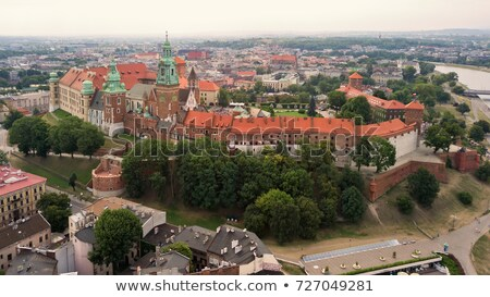 Aerial photo from the heights of Wawel Castle in the historic ce Stock photo © vlad_star