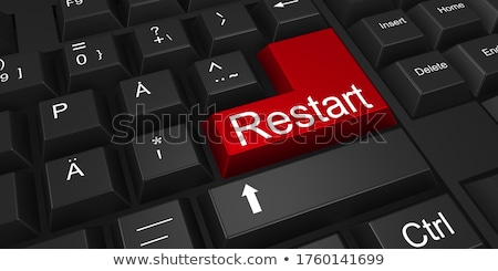 Keyboard with Blue Keypad - New Start. 3D. Stock photo © tashatuvango