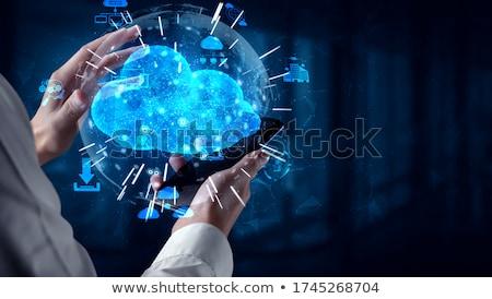 cloud solution on laptop screen stock photo © tashatuvango