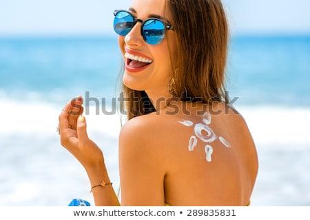 Nap elleni védelem nyár illusztráció nap szépség homok Stock fotó © adrenalina