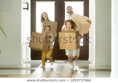 two boys holding box Stock photo © IS2
