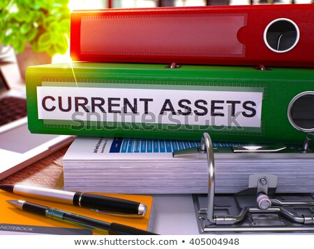 current assets on green office folder toned image stock photo © tashatuvango