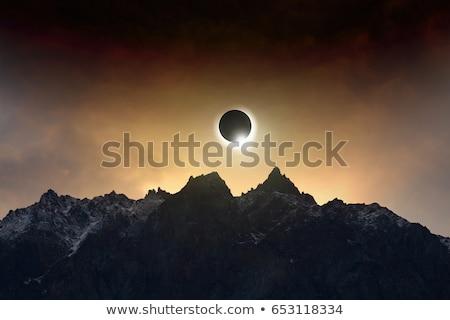 Nap fogyatkozás sötét égbolt kilátás univerzum Stock fotó © ssuaphoto