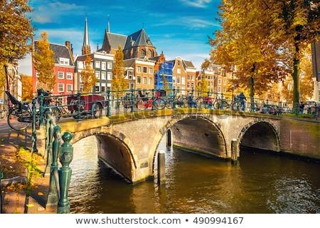 Amsterdam gece atış Hollanda bahar şehir Stok fotoğraf © dirkr