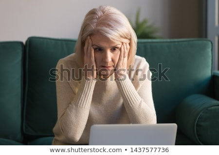 Grandmother confused emotions. Grandma is perplexed. Old lady su Stock photo © popaukropa