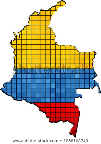 grunge · Colombia · zászló · vidék · hivatalos · színek - stock fotó © mikhailmishchenko