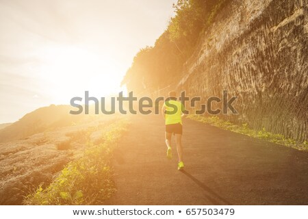 Maigre homme courir route illustration enfant Photo stock © bluering