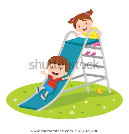 мальчика играет слайдов площадка счастье день Сток-фото © IS2