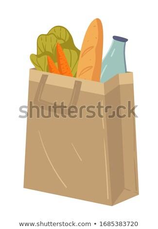 Baguettes vente alimentaire fraîches pour la vente France Photo stock © IS2