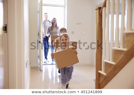 Portrait of a woman moving house Stock photo © IS2