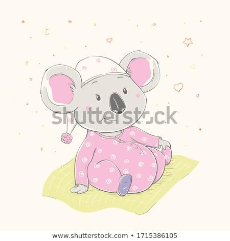 koala · illustrazione · bandiera · animale · prato · safari - foto d'archivio © is2