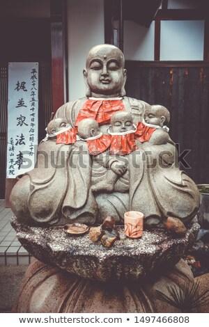 Monge estátua templo quioto Japão pedra Foto stock © daboost