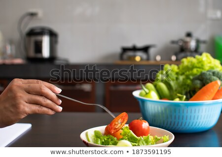 scoop of sliced cucumber Stock photo © Digifoodstock
