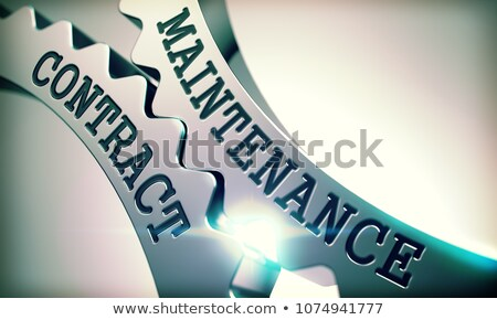Maintenance Contract - Mechanism of Metal Cogwheels . 3D . Stock photo © tashatuvango