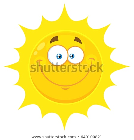 Happy Yellow Sun Cartoon Emoji Face Character With Expression Stock photo © hittoon
