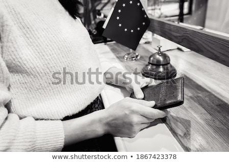 Casal recepcionista passaporte recepção Espanha horizontal Foto stock © IS2