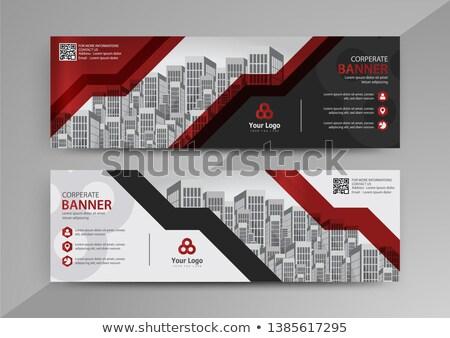 absztrakt · vektor · szett · vízszintes · weboldal · bannerek - stock fotó © Diamond-Graphics