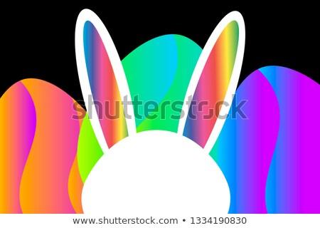 Wektora Wielkanoc strony ulotki ilustracja królik Zdjęcia stock © articular