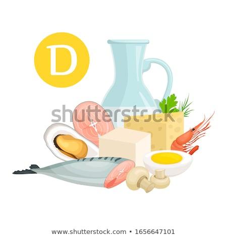 Witamina d bogate kolekcja żywności ryb Zdjęcia stock © unikpix