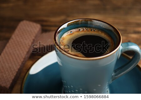 Cup coffee with homemade cookies Stock photo © Melnyk
